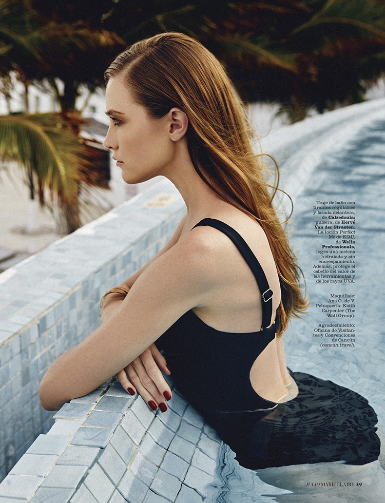 Vlada Roslyakova editorial for Marie Claire Spain